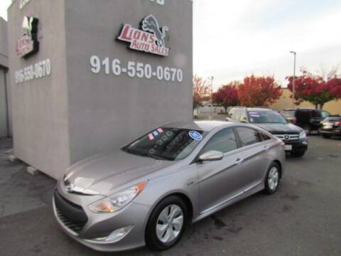 2013 Hyundai Sonata Hybrid for sale at LIONS AUTO SALES in Sacramento CA