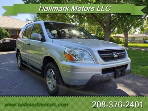 2005 Honda Pilot for sale at HALLMARK MOTORS LLC in Boise ID
