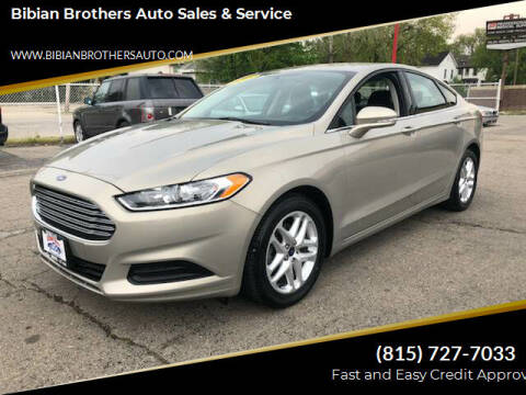2015 Ford Fusion for sale at Bibian Brothers Auto Sales & Service in Joliet IL