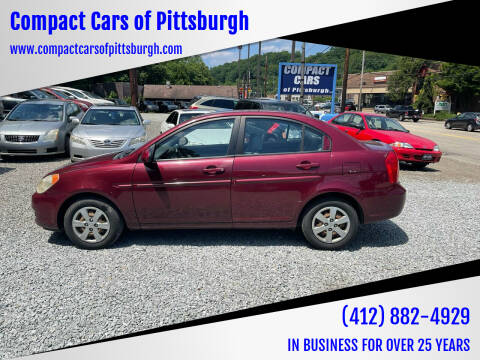 2008 Hyundai Accent for sale at Compact Cars of Pittsburgh in Pittsburgh PA