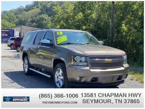 2013 Chevrolet Suburban for sale at Union Motors in Seymour TN