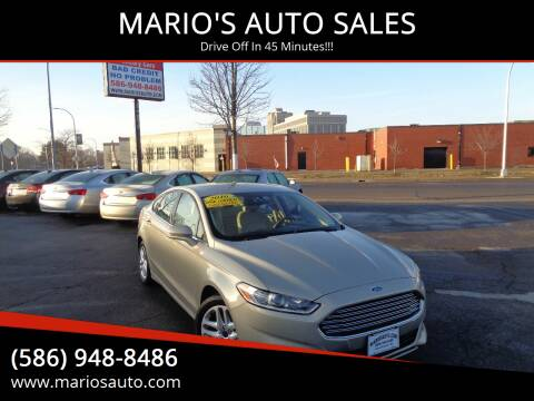 2016 Ford Fusion for sale at MARIO'S AUTO SALES in Mount Clemens MI