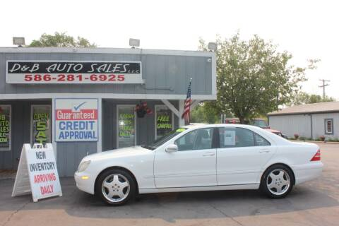 2001 Mercedes-Benz S-Class for sale at D & B Auto Sales LLC in Washington MI