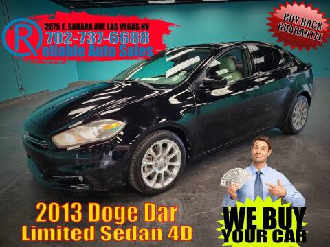 2013 Dodge Dart for sale at Reliable Auto Sales in Las Vegas NV