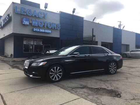 2017 Lincoln Continental for sale at Legacy Motors in Detroit MI