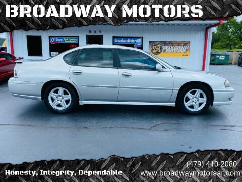 2005 Chevrolet Impala for sale at BROADWAY MOTORS in Van Buren AR