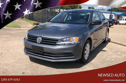 2015 Volkswagen Jetta for sale at Newsed Auto in Houston TX