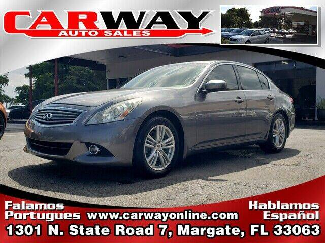 2010 Infiniti G37 Sedan for sale at CARWAY Auto Sales in Margate FL