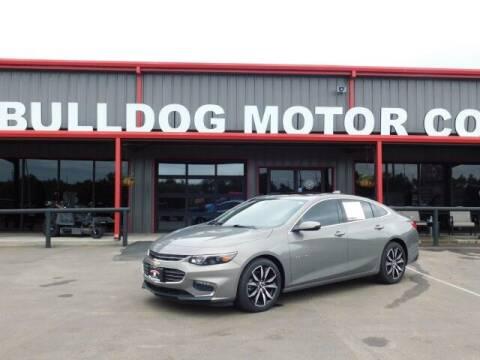 2018 Chevrolet Malibu for sale at Bulldog Motor Company in Borger TX