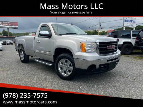 2010 GMC Sierra 1500 for sale at Mass Motors LLC in Worcester MA