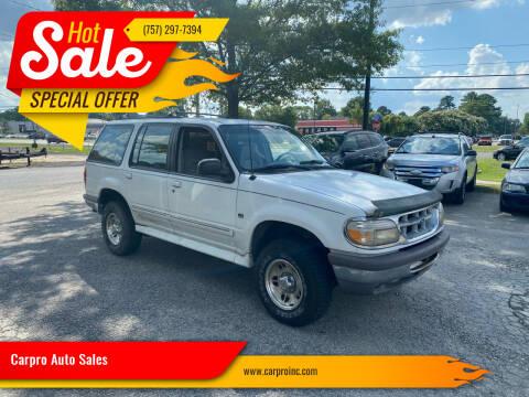 1996 Ford Explorer for sale at Carpro Auto Sales in Chesapeake VA