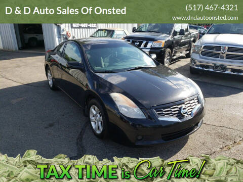 2008 Nissan Altima for sale at D & D Auto Sales Of Onsted in Onsted   Brooklyn MI