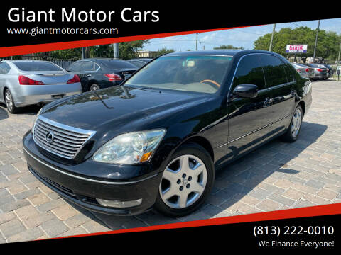 2005 Lexus LS 430 for sale at Giant Motor Cars in Tampa FL