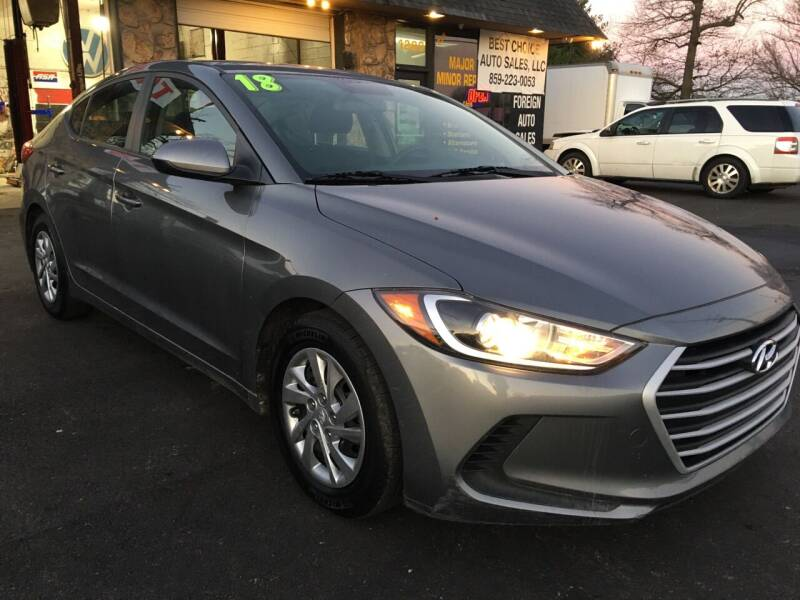 2018 Hyundai Elantra for sale at Best Choice Auto Sales in Lexington KY
