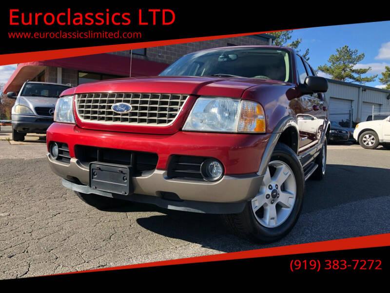 2004 Ford Explorer for sale at Euroclassics LTD in Durham NC