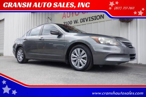 2011 Honda Accord for sale at CRANSH AUTO SALES, INC in Arlington TX