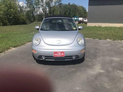 2003 Volkswagen New Beetle Convertible for sale at eurO-K in Benton ME