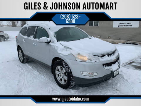 2010 Chevrolet Traverse for sale at GILES & JOHNSON AUTOMART in Idaho Falls ID