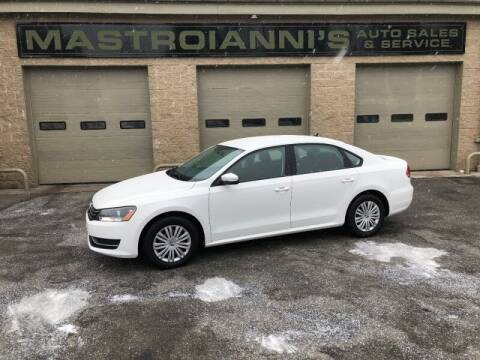 2014 Volkswagen Passat for sale at Mastroianni Auto Sales in Palmer MA
