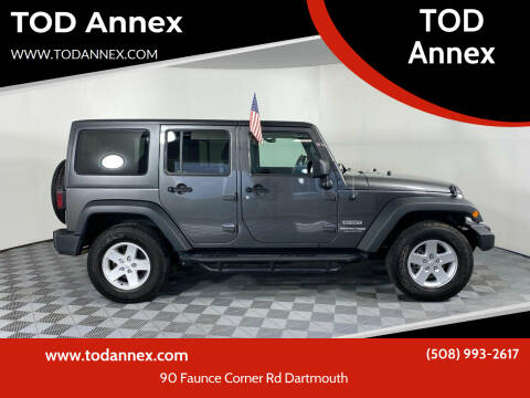 2018 Jeep Wrangler JK Unlimited for sale at TOD Annex in North Dartmouth MA