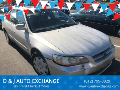 1998 Honda Accord for sale at D & J AUTO EXCHANGE in Columbus IN