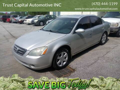 2003 Nissan Altima for sale at Trust Capital Automotive Inc. in Covington GA