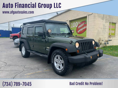 2008 Jeep Wrangler Unlimited for sale at Auto Financial Group LLC in Flat Rock MI