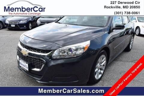 2015 Chevrolet Malibu for sale at MemberCar in Rockville MD