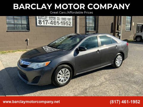 2014 Toyota Camry for sale at BARCLAY MOTOR COMPANY in Arlington TX