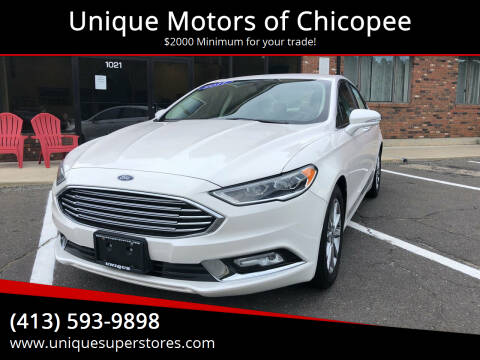 2017 Ford Fusion for sale at Unique Motors of Chicopee in Chicopee MA