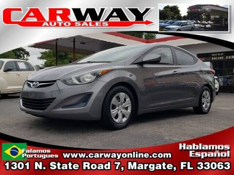 2014 Hyundai Elantra for sale at CARWAY Auto Sales in Margate FL