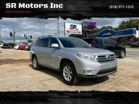 2012 Toyota Highlander for sale at SR Motors Inc in Gainesville GA