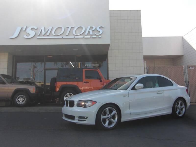 2011 BMW 1 Series for sale at J'S MOTORS in San Diego CA