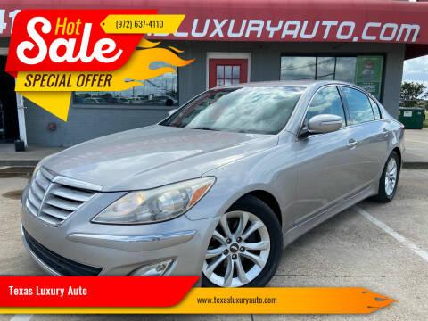 2013 Hyundai Genesis for sale at Texas Luxury Auto in Cedar Hill TX