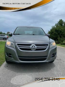 2011 Volkswagen Tiguan for sale at Tropical Motors Car Sales in Deerfield Beach FL