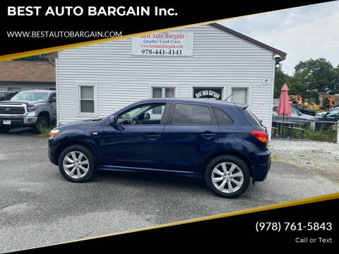 2012 Mitsubishi Outlander Sport for sale at BEST AUTO BARGAIN inc. in Lowell MA