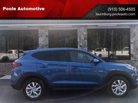 2019 Hyundai Tucson for sale at Poole Automotive in Laurinburg NC