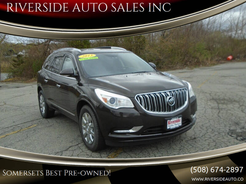 2013 Buick Enclave for sale at RIVERSIDE AUTO SALES INC in Somerset MA