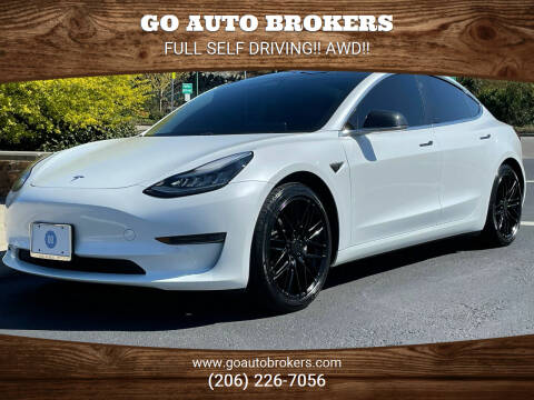 2018 Tesla Model 3 for sale at GO AUTO BROKERS in Bellevue WA