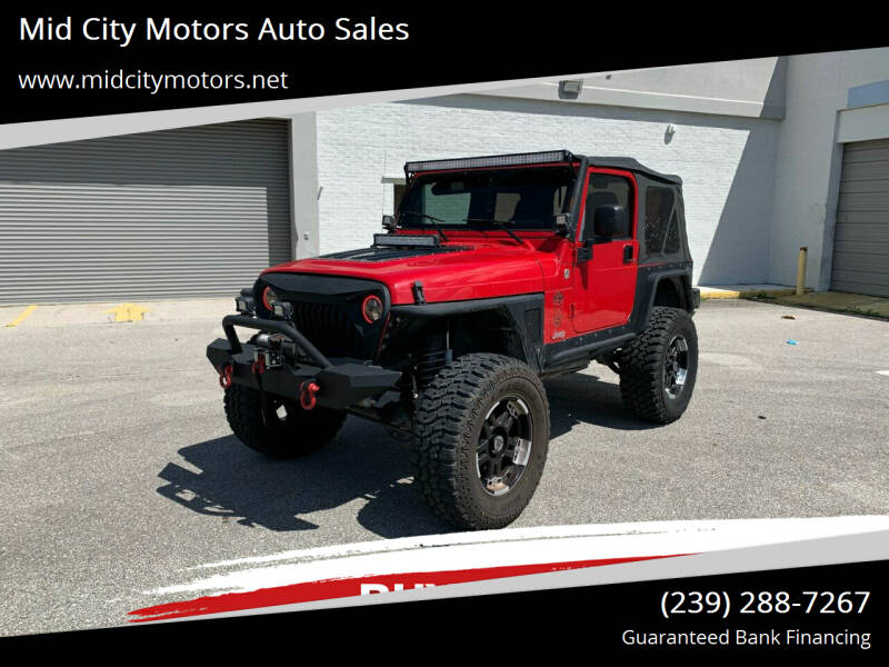 2005 Jeep Wrangler for sale at Mid City Motors Auto Sales in Fort Myers FL