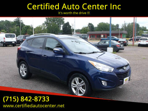 2013 Hyundai Tucson for sale at Certified Auto Center Inc in Wausau WI