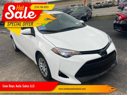 2017 Toyota Corolla for sale at Cow Boys Auto Sales LLC in Garland TX