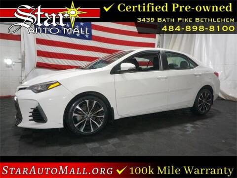 2018 Toyota Corolla for sale at STAR AUTO MALL 512 in Bethlehem PA