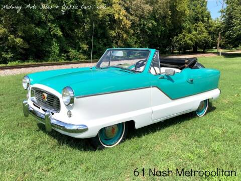 1961 Nash Metropolitan for sale at MIDWAY AUTO SALES & CLASSIC CARS INC in Fort Smith AR