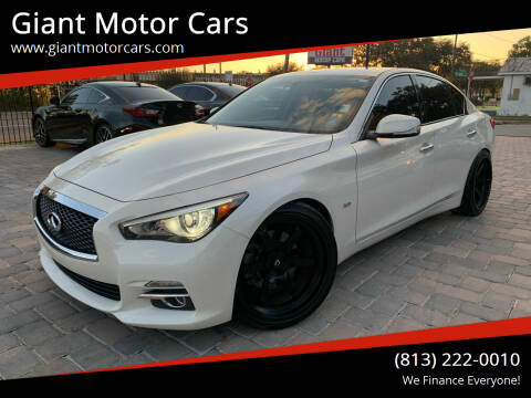 2016 Infiniti Q50 for sale at Giant Motor Cars in Tampa FL