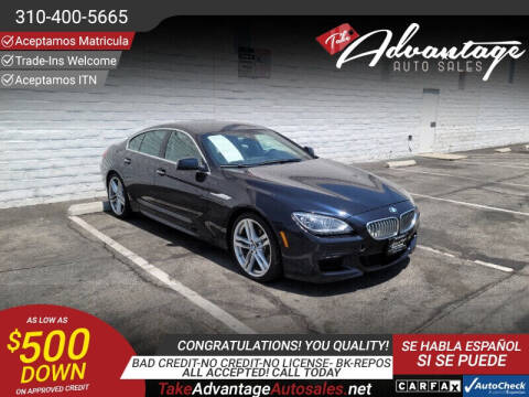2013 BMW 6 Series for sale at ADVANTAGE AUTO SALES INC in Bell CA