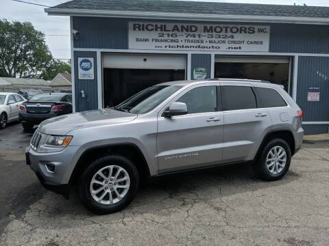 2016 Jeep Grand Cherokee for sale at Richland Motors in Cleveland OH
