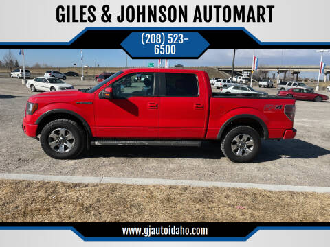 2012 Ford F-150 for sale at GILES & JOHNSON AUTOMART in Idaho Falls ID
