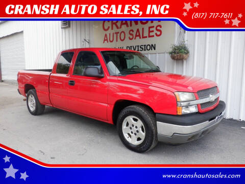 2005 Chevrolet Silverado 1500 for sale at CRANSH AUTO SALES, INC in Arlington TX