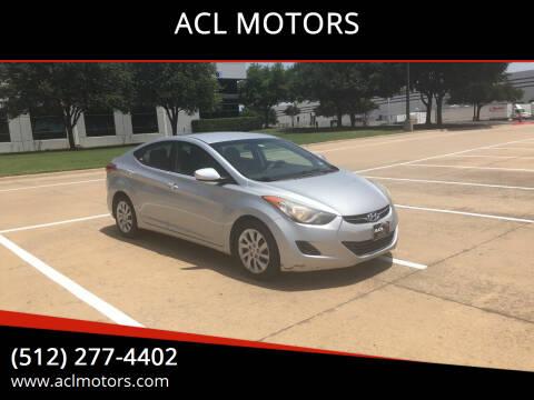 2013 Hyundai Elantra for sale at ACL MOTORS in Austin TX